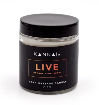 Kannai Live - CBD Massage Candle 50mg CBD 4 oz