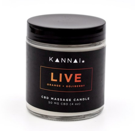 Kannai Live - CBD Massage Candle  25mg CBD 2  oz